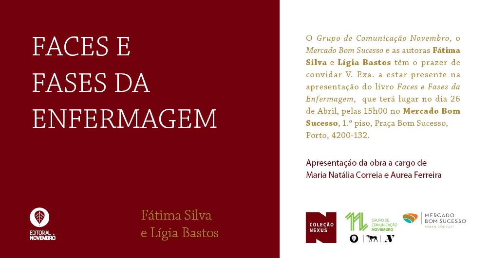 """Apresentação do livro """"Faces e Fases da Enfermagem"""", de Fátima Silva e Lígia Bastos no Mercado Bom Sucesso"""