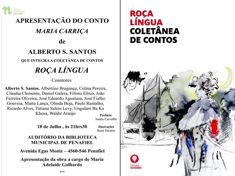 """Apresentação do conto """"Maria Carriça"""", de Alberto S. Santos, que integra o livro """"Roça Língua"""", na Biblioteca Municipal de Penafiel"""