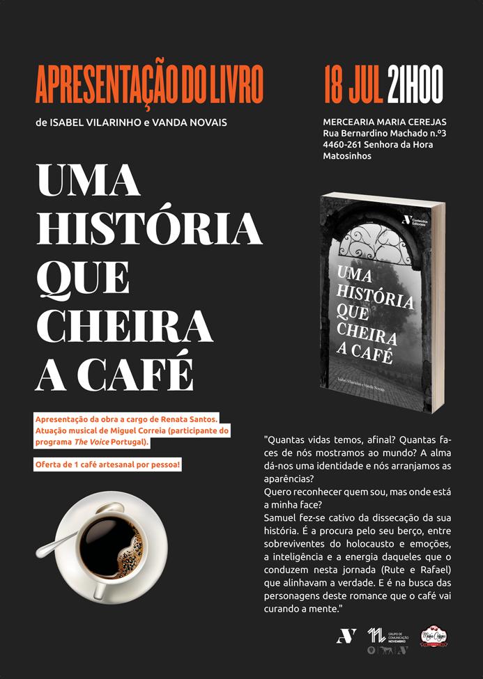 Apresentação de livro com sabor a café na Mercearia Maria Cerejas!