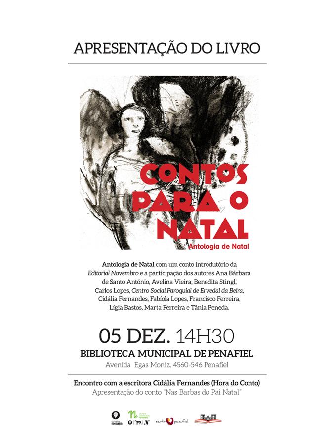 """Apresentação da Antologia """"Contos para o Natal"""", da Editorial Novembro, e do conto Nas Barbas do Pai Natal"""", de Cidália Fernandes"""