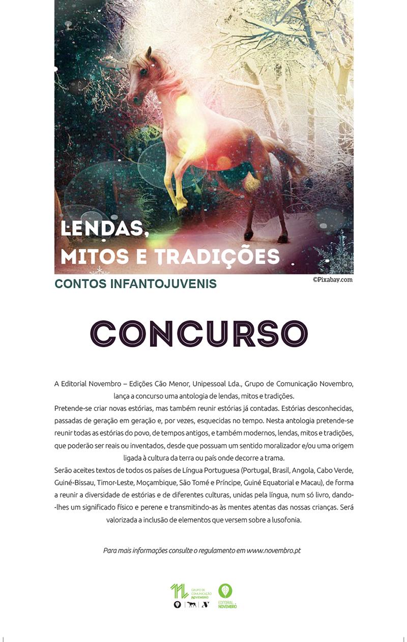 Concurso: Antologia Lendas, Mitos e Tradições