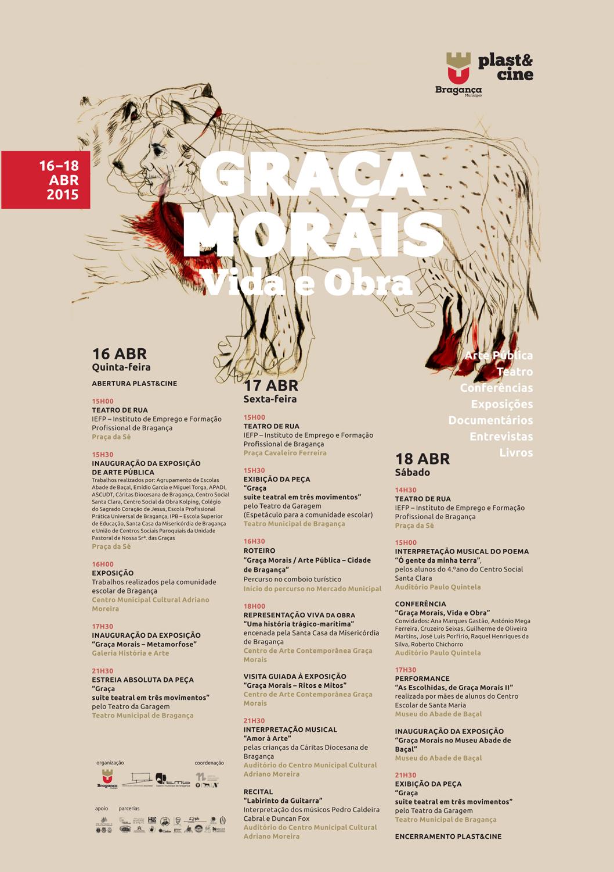 16, 17 e 18 de Abril – Plast&Cine Bragança, Homenagem a Graça Morais