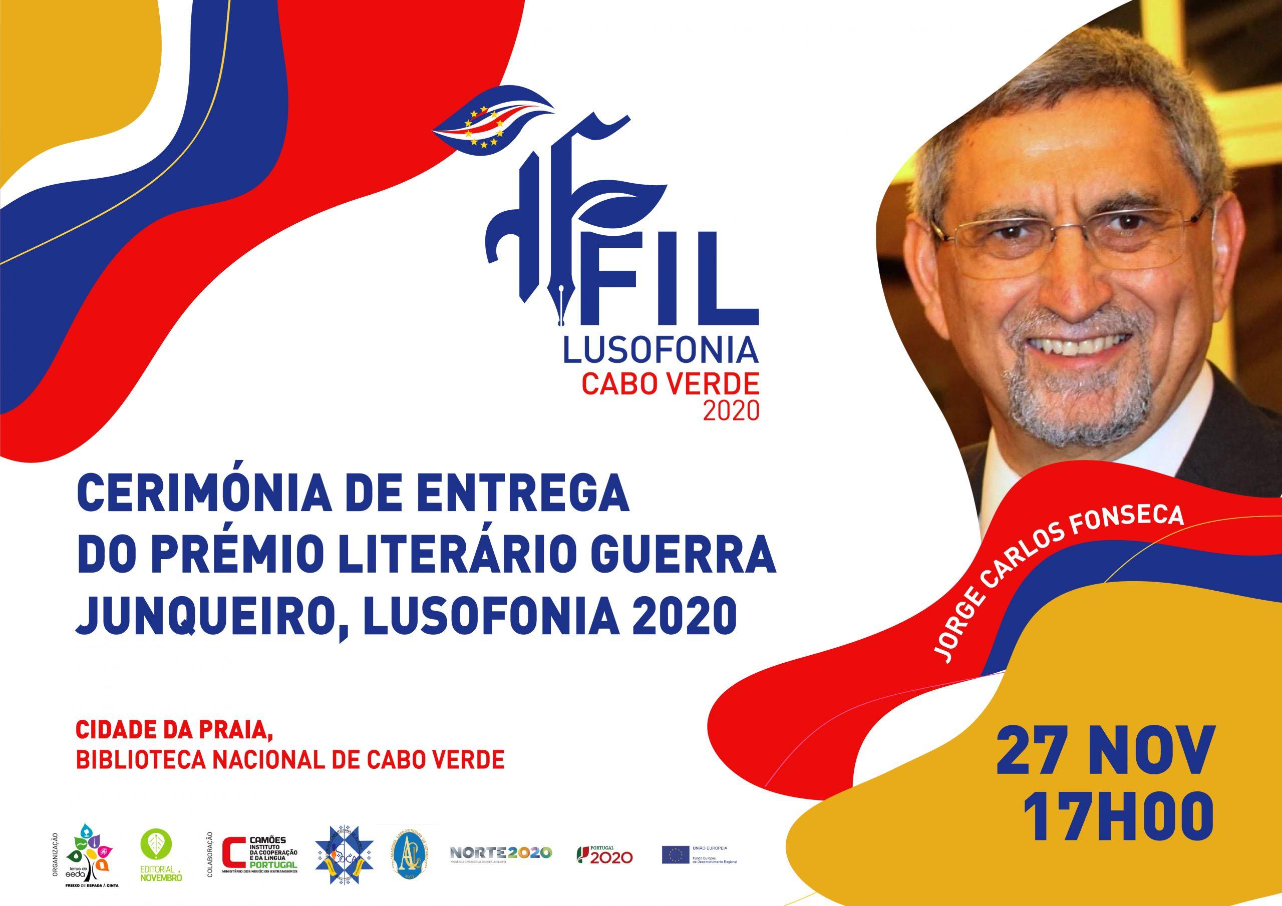 Cerimónia de entrega do Prémio Literário Guerra Junqueiro, Lusofonia 2020