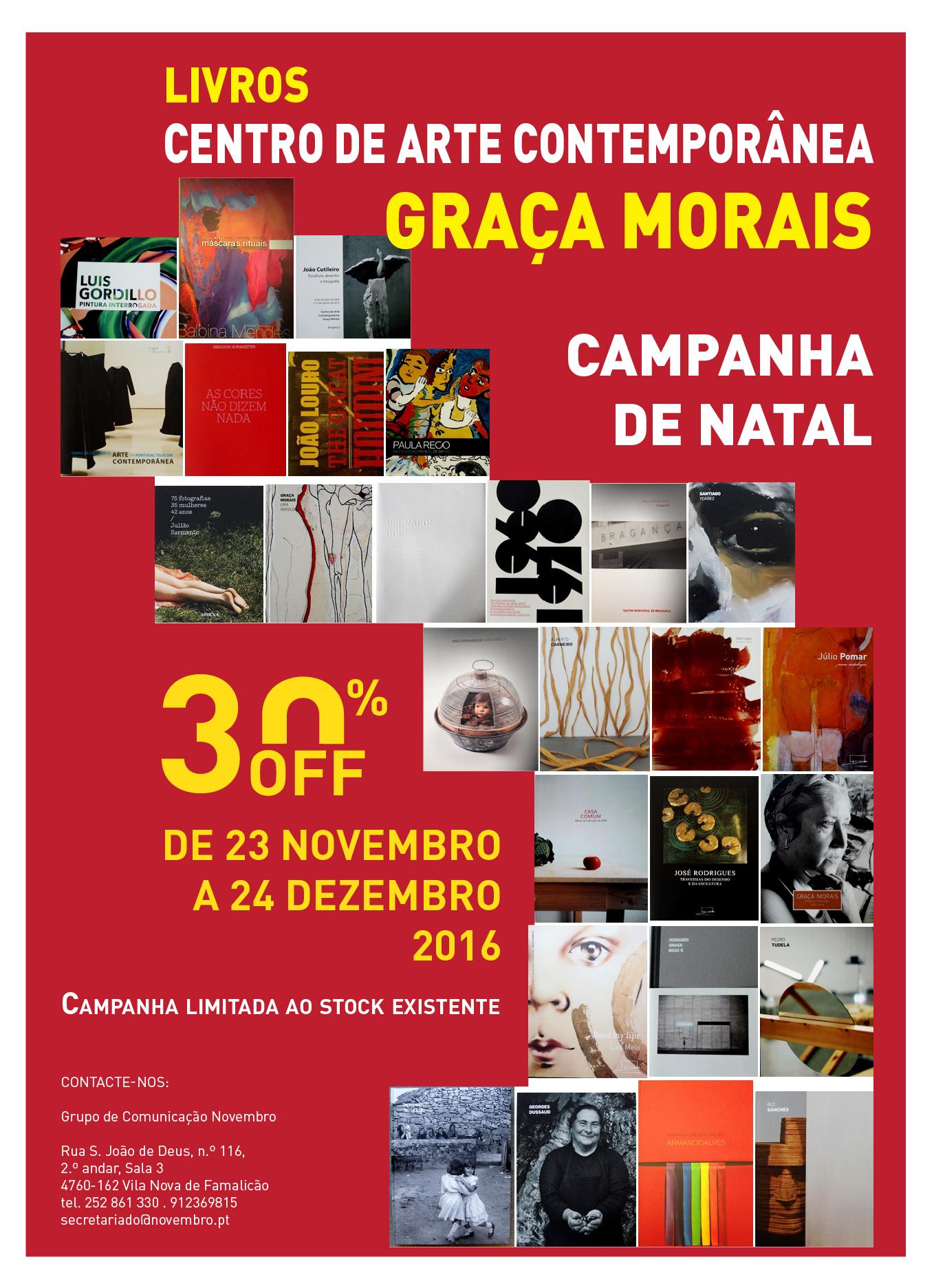 LIVROS CENTRO DE ARTE CONTEMPORÂNEA GRAÇA MORAIS